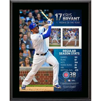 Kris Bryant Chicago Cubs Fanatics Authentic 10.5'' x 13'' 2015 National League Rookie of the Year Sublimated Plaque