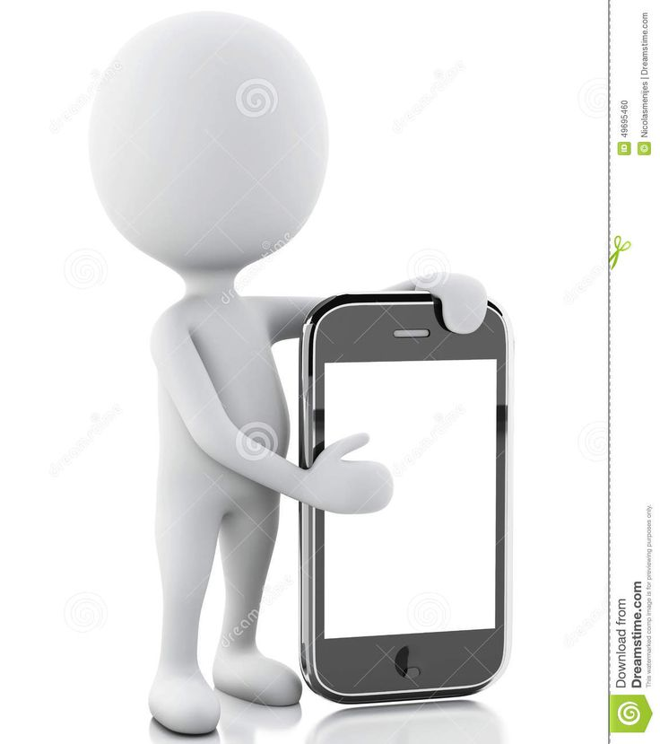 white 3d people smartphone - Szukaj w Google
