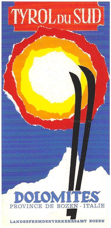 vintage ski poster - Tyrol du Sud