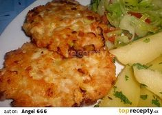 Sýrovo-kuřecí placičky recept - TopRecepty.cz