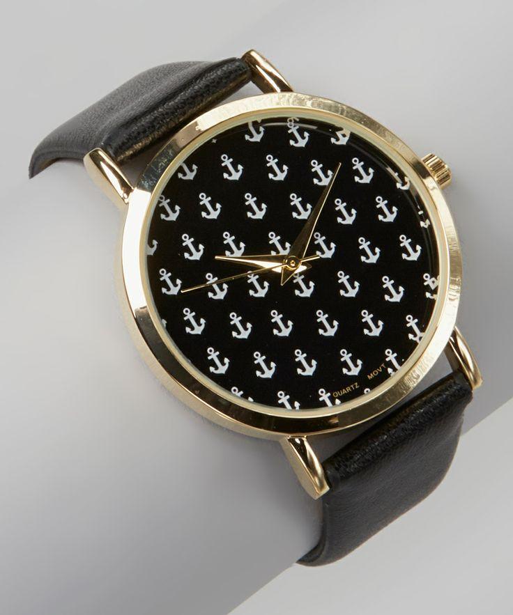 Black Anchor Watch.