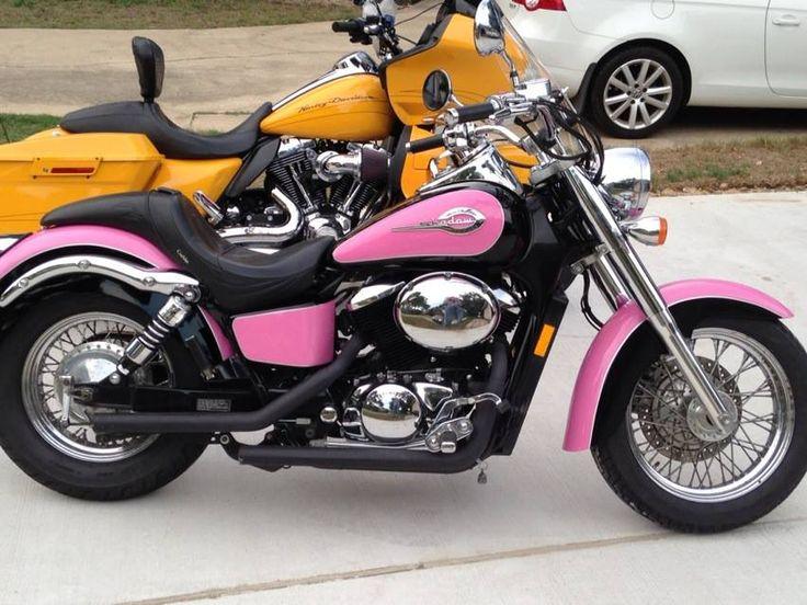 Pink Motorcycle Honda Shadow 750