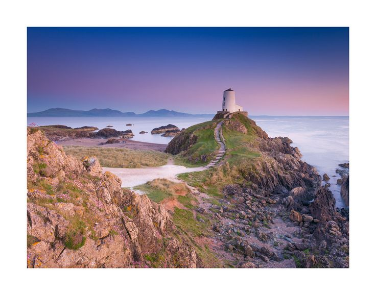 Tŵr Mawr Lighthouse, Anglesey. Landscape Dusky Twilight Print. Home Decor by AdamClarkPhotography on Etsy https://www.etsy.com/uk/listing/294017701/tr-mawr-lighthouse-anglesey-landscape