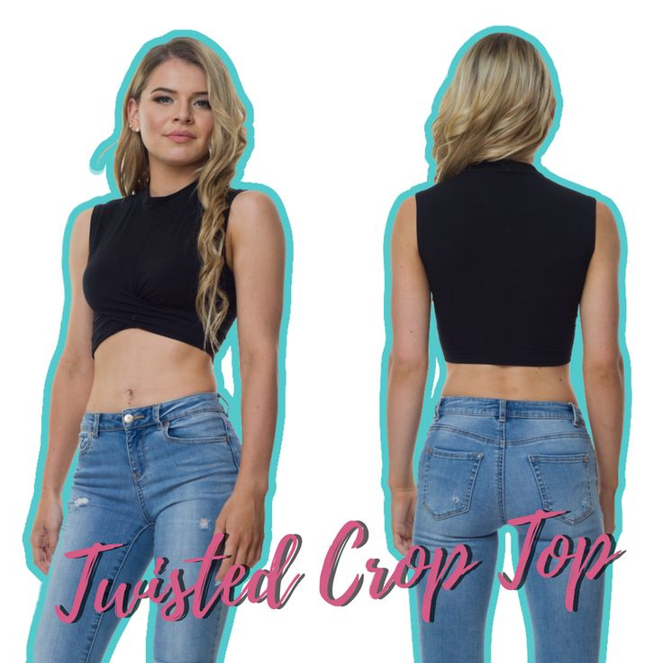 Feeling blue? There's nothing a little retail therapy can't cure 😉 Flaunt with our Twisted Crop Top in Black via the link in our bio.