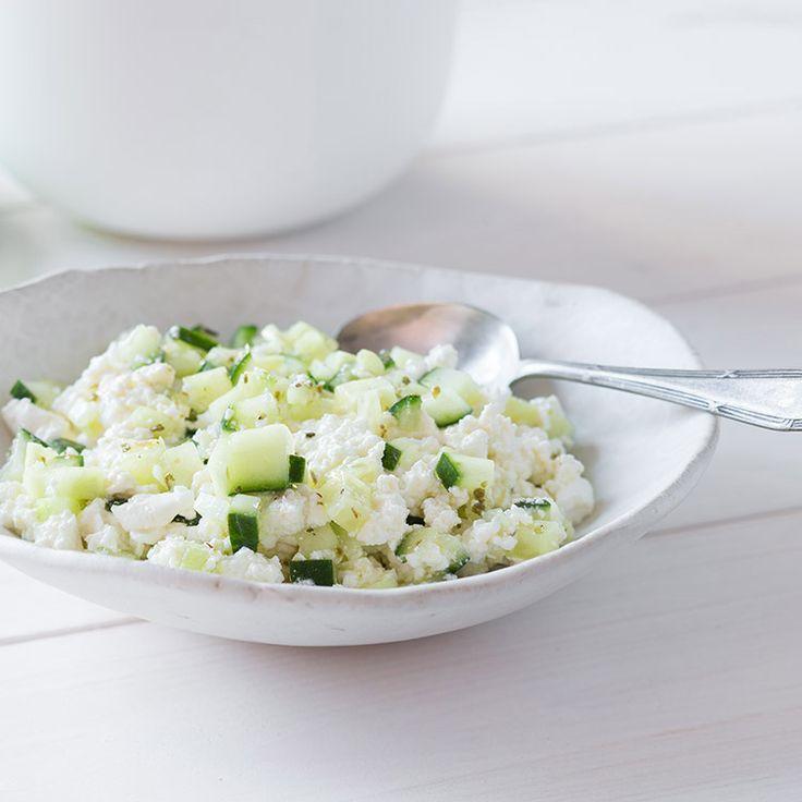 Zaziki-Frischkäse mit dem Lékué Frischkäse-Set