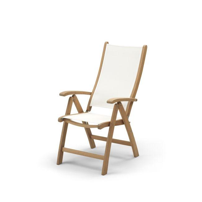 Skagerak Columbus Justerbar stol, Teak / Vit | DanskDesign.nu