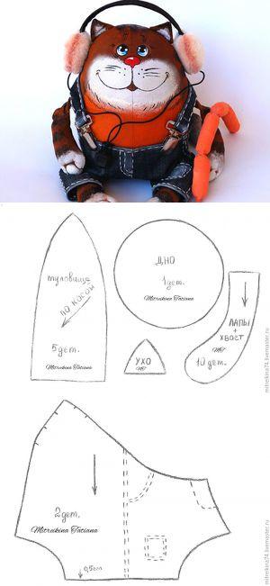 Мастер-класс: кот из мультфильма 'попугай Кеша', первый этап - Ярмарка Мастеров - ручная работа, handmade
