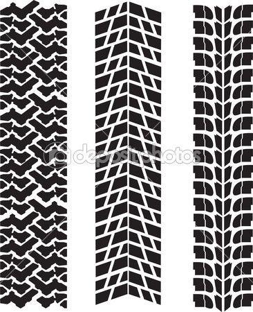 Neumático imprime vector — Ilustración de stock #16778761