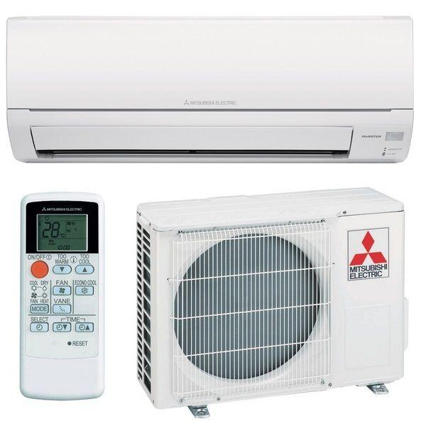 Mitsubishi Electric Klimaanlage und Wärmepumpe Set Basic Edition MSZ-DM Wandgerät Inverter / Kühlen und Heizen. 2,5 kW Kälteleistung / 3,15 kW Heizleistung.