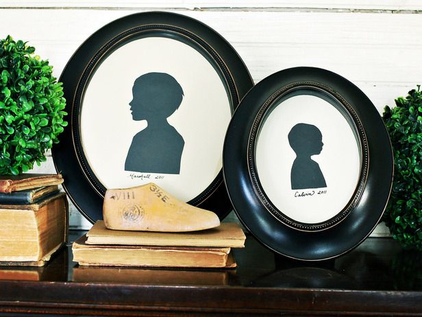 How to Make a Framed Silhouette >> http://www.hgtv.com/holidays-and-entertaining/diy-mothers-day-gifts-mom-will-love/pictures/page-13.html?soc=pinterest #mothersdayideas