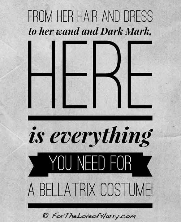 You will find everything you need for a Bellatrix costume here! #bellatrix #harrypotter #deatheater