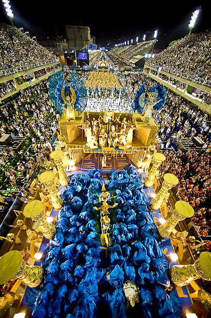 Samba Schools enchanting the public. Carnival, Rio de Janeiro, #Brazil