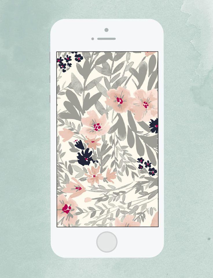 FREEBIE // Floral Mobile Wallpaper Download via @westelm | Flowers