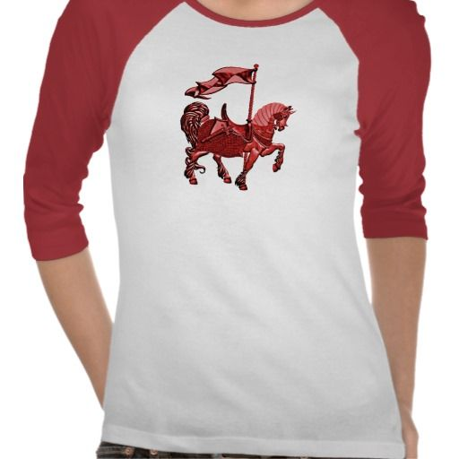 carousel horse_red t shirt #fashion #t-shirts #red