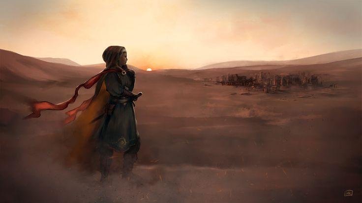 desert wind, kasia krzysztofowicz on ArtStation at https://www.artstation.com/artwork/0aNN5