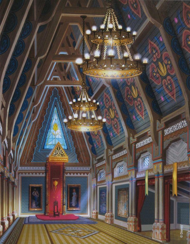 Arendelle Castle Disney art and Cartoon - badezimmer m amp ouml bel set