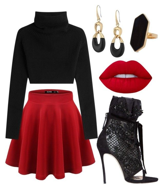 """""""Christmas party"""" by tovenilsen on Polyvore featuring Valentino, Dsquared2, Michael Kors, Lime Crime and Jaeger"""