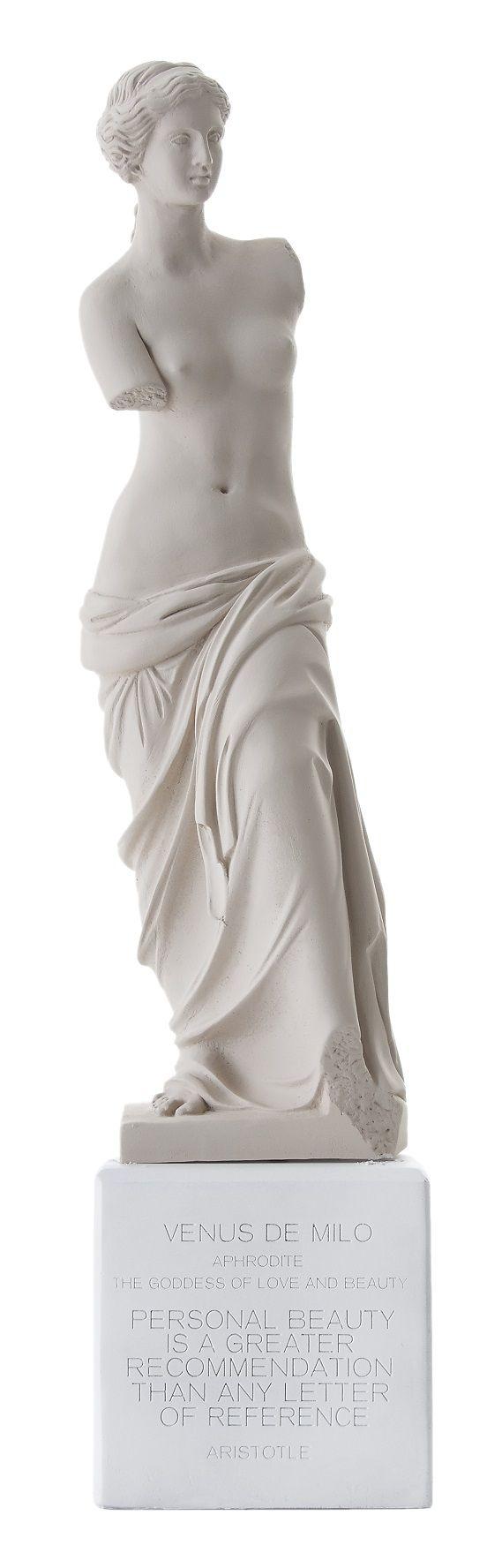 Venus de Milo: Statue. Material 100% Ceramine. Color: Ochre.