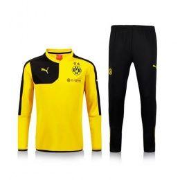 15-16 ドルトムント ジャケット トレーニングコート 長袖 黄色い 上下セット -…
