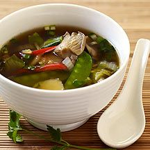 Asian-Inspired Vegetable Soup 1 PointsPlus