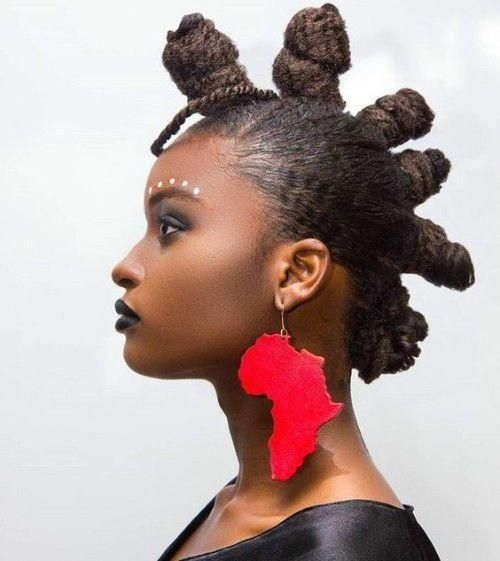 Glamorous Bantu Knot Out Hairstyles for the Black Ladies | New Pure Hairstyles…