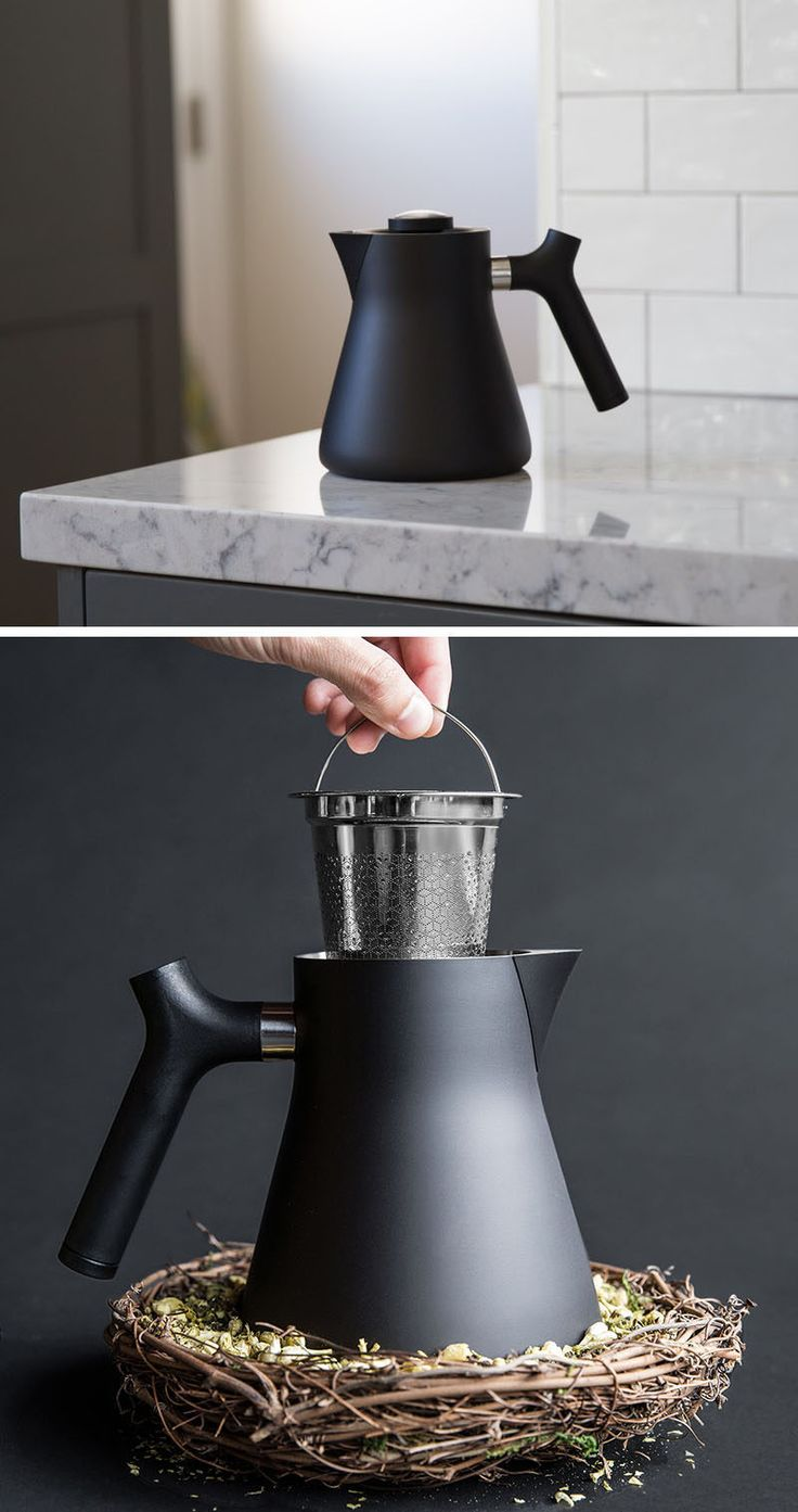 5 Essentials You Need When Hosting An Awesome Modern Tea Party // A simple tea pot in a solid color is the best way to keep things modern.