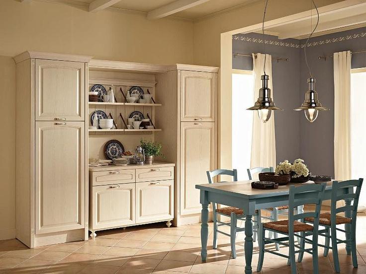 Light blue and cream kitchen shaker kitchen pinterest for Shaker cream kitchen ideas