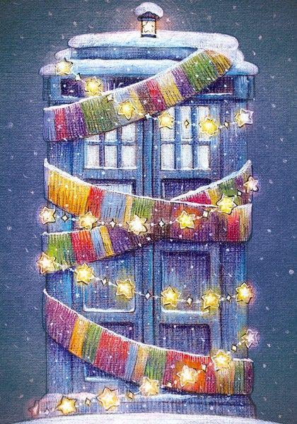 Новогодняя Тардис - Lovelycards