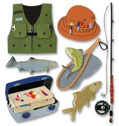 Jolee's Boutique Dimensional Stickers - Fishing Trip