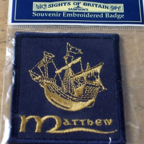 Cutty Sark ship embroidery badge Matthew | vintage accessories | Jewels  Finery UK
