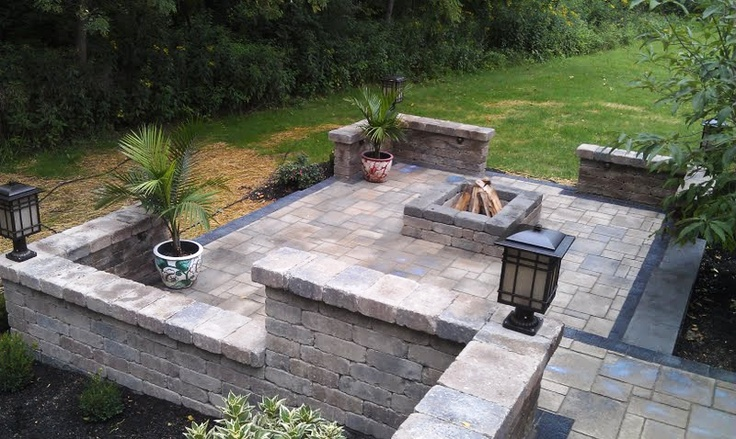 Multi Level Patio Unilock Avante Ashlar Pavers Large