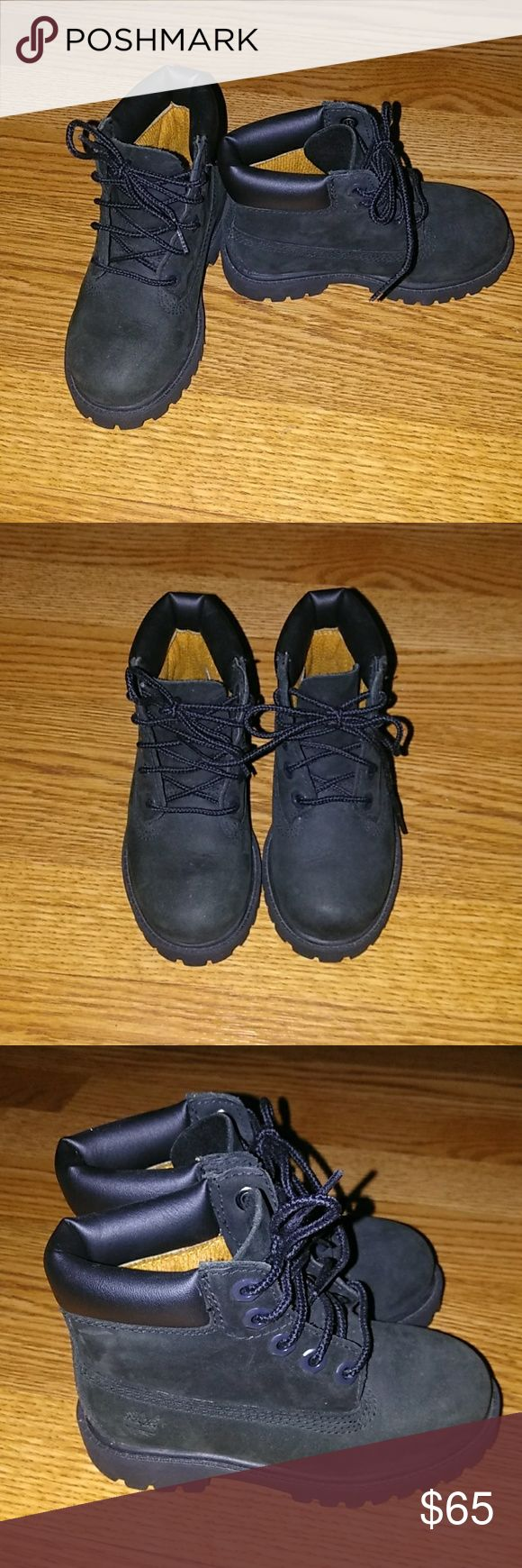 Black timberland boots for toddler sz 8 Black Timberland boots for toddler boys size 8. Like new. Only worn once if that. Timberland Shoes Boots