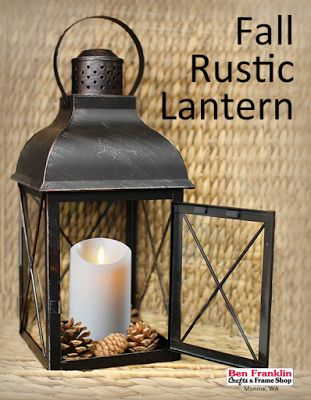 DIY Fall Lantern using Luminara Candles | #FallDecor #Crafts @Bfranklinmonroe