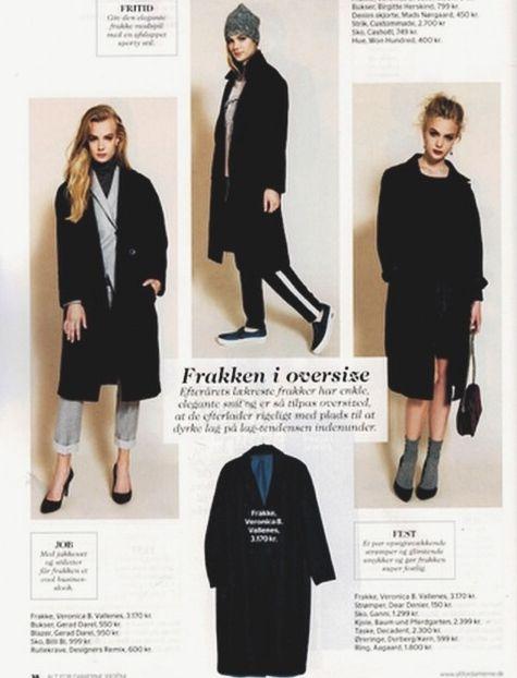 Veronica B. Vallenes Perfect day coat in the magazine danish Alt for damerne.
