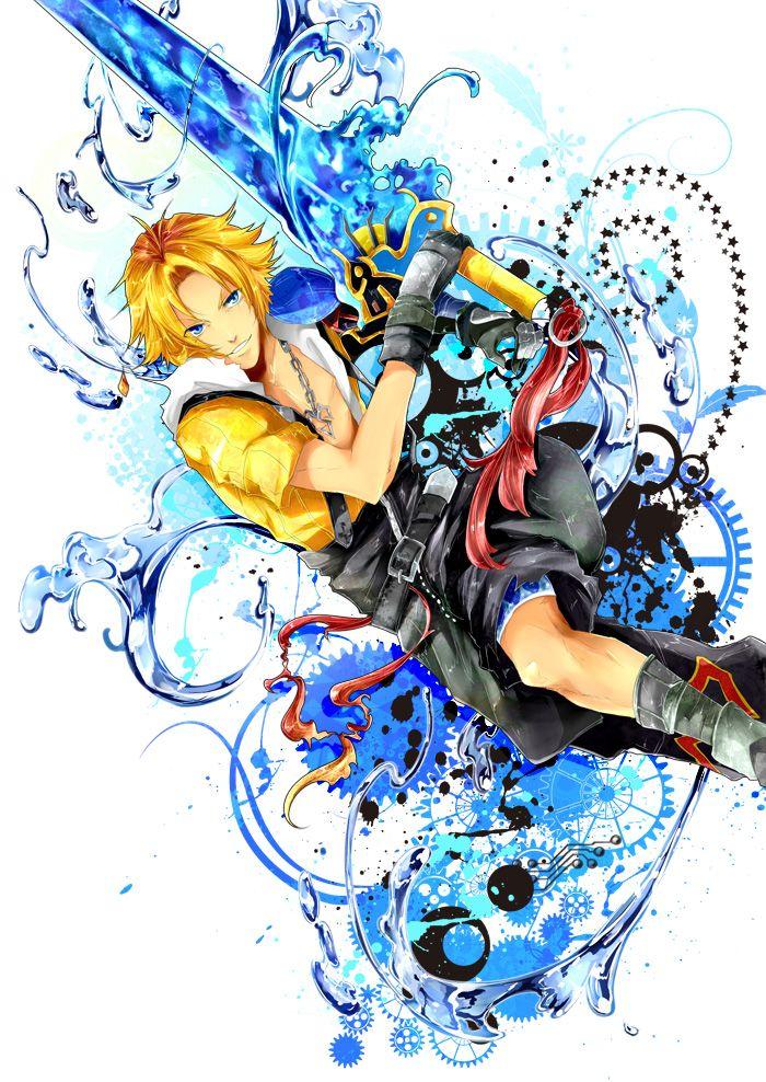 Tags: Final Fantasy X, Tidus, Dissidia, Pixiv, ALYSSA (Pixiv1037889)