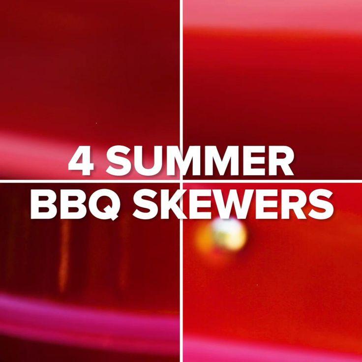 Summer BBQ Skewers 4 Ways