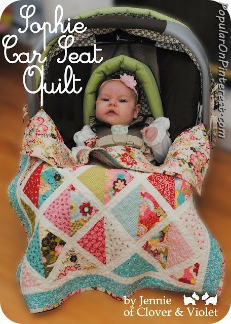 "Moda Bake Shop: ""Sophie"" Car Seat Quilt pattern / tutorial - uses"