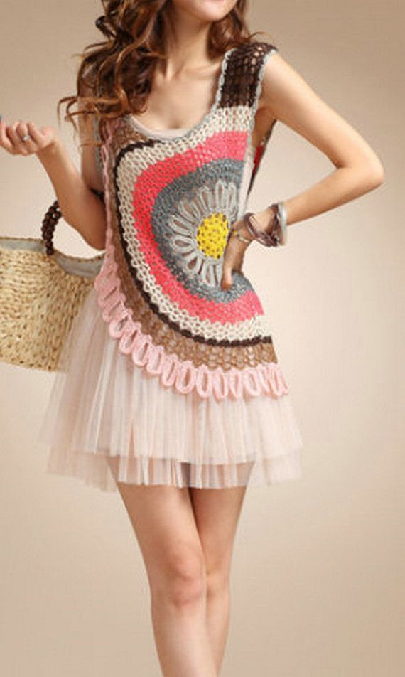 Crochet Blouse Crochet Bolero / Jachet Handmade by MumsCraftwork