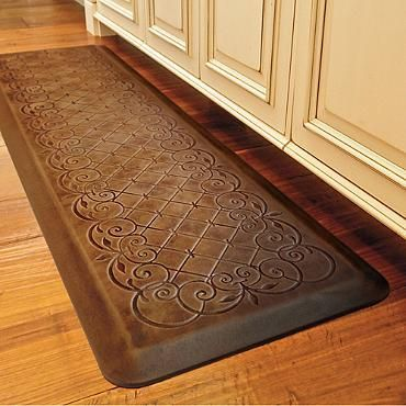 Trellis Scroll Anti-fatigue Comfort Mat, my kitchen needs this!!