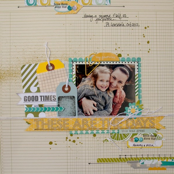 These are the days (studio calico layout) - Two Peas in a Bucket.