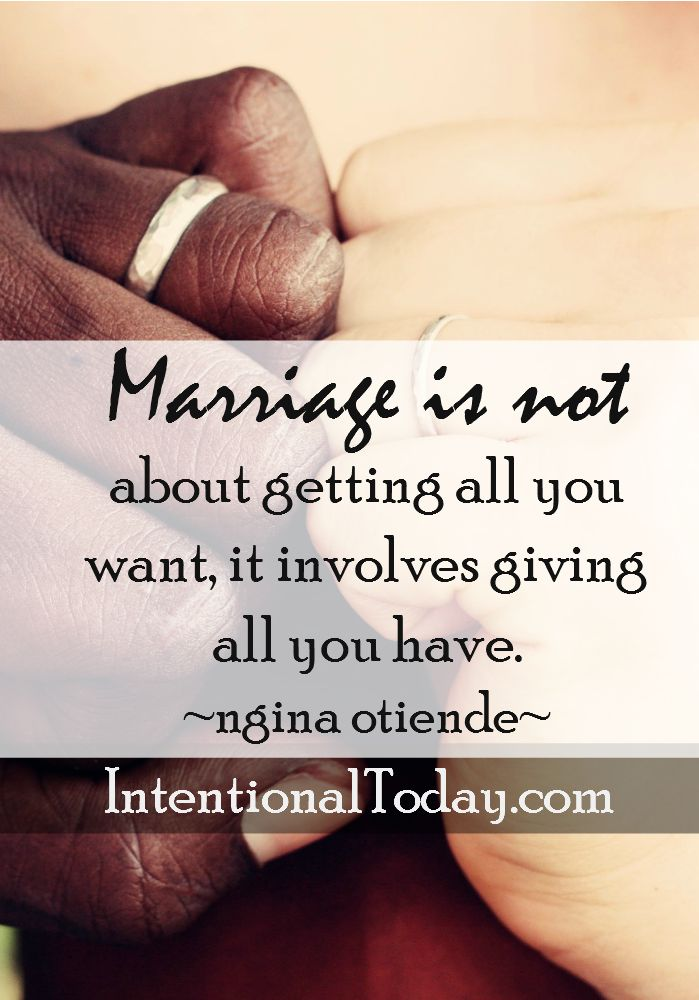 A great marriage requires more than we think we can give. But the reward is worth the sacrifice.