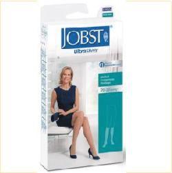 BSN Jobst UltraSheer Knee High Womans Stockings, 30-40 mmHg, Natural