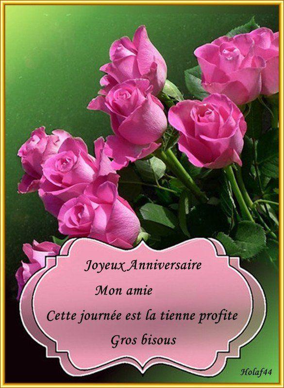 Carte Anniversaire Amie.Joyeux Anniversaire Mon Amie Happy Birthday Joyeux