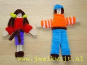 #knutselen met #kinderen: #DIY Poppetjes van ijsstokjes