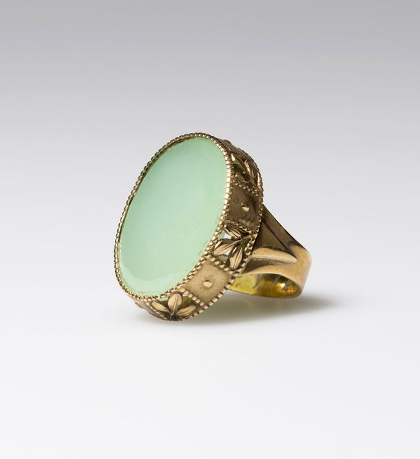 Dagobert Peche, ring, 1913. Gold, gemstone. Made by Oscar ...