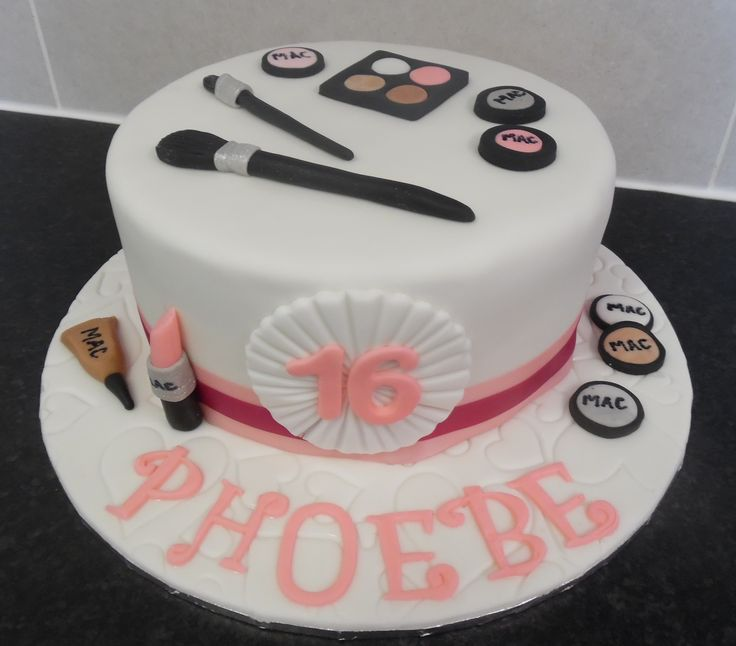 16th birthday make up cake