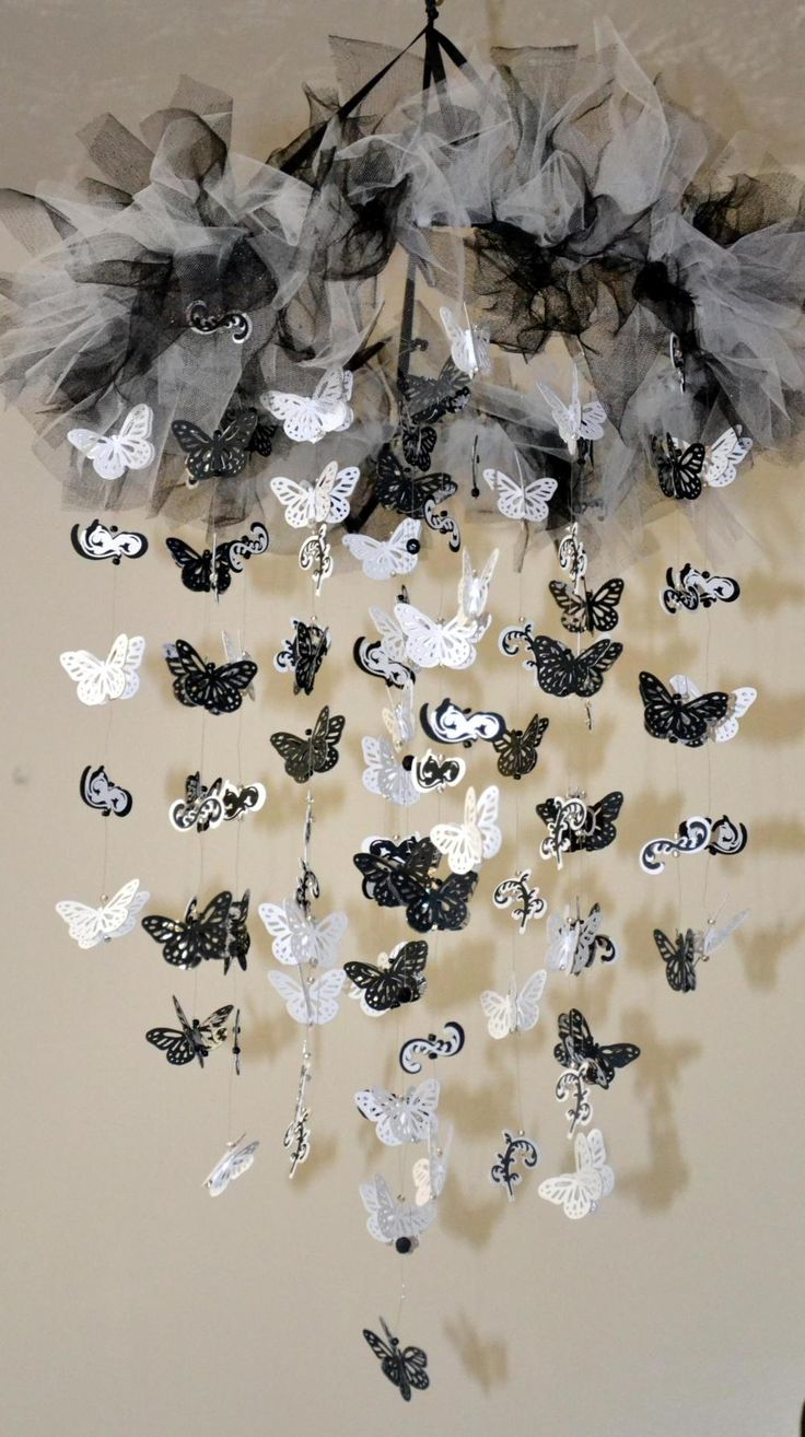 17 best images about crafts lanterns mobiles chandeliers for White paper butterflies