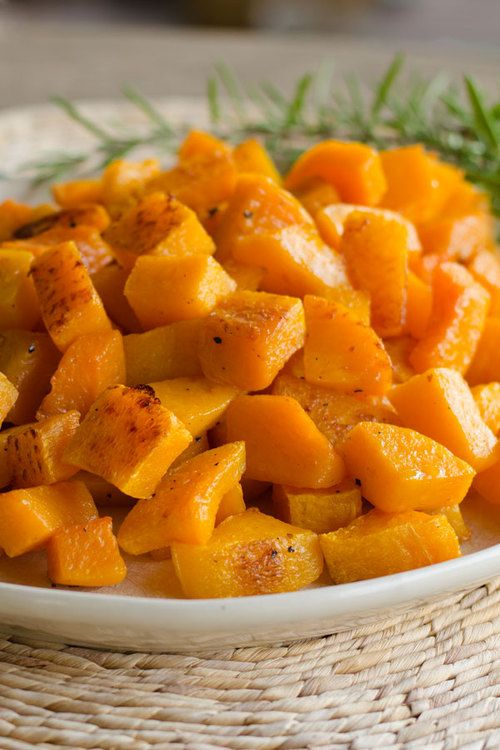 Roasted Butternut Squash with Duck Fat, Garlic and Rosemary - Cook Eat Paleo | try-paleo-diet.com ☺. ☺