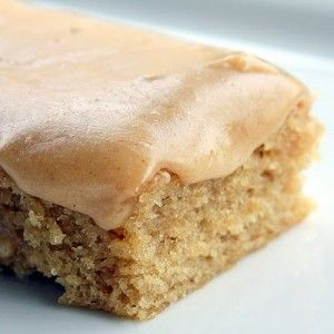 Peanut Butter Sheet Cake - Oh my goodness, this cake is AMAZING. I prefer it without the frosting as the cake is the perfect sweetness for me...though I did eat the frosting out of the warm pot. Peanut butter heaven! It's good with crunchy peanut butter, too!