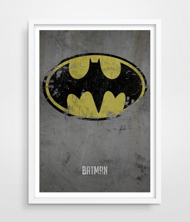 Batman Poster Superheroes Superhero Wall by TheWatermelonFactory